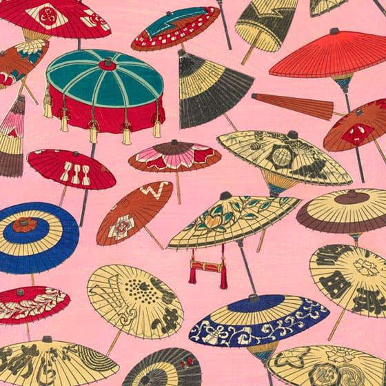 浮世絵 番傘